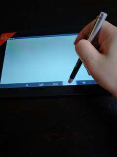 Touch screen pen with ink pen