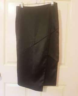 Bardot Black split skirt