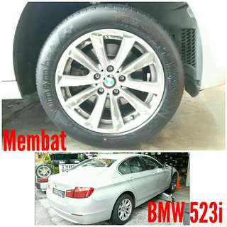 Tyre 225/55 R17 Membat on BMW 523i 🙋‍♂️ The price shown is estimated
