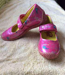 8/10 Wink Pink Glitter Baby / toddler / kids girl / gals leather shoes size 28 19.5cm