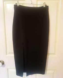 Bardot Black pencil split skirt