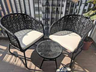 Horizon Outdoor Furniture 2 Chairs and 1 Table