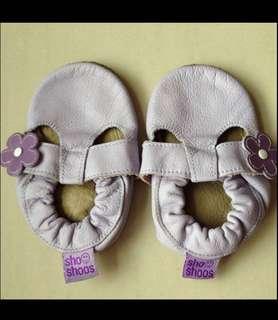 8/10 Shooshoos purple flower prewalker / infant baby girl/ gal casual sandals shoes 12cm