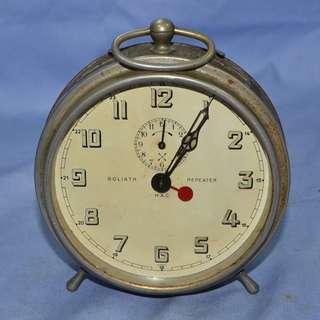 ANTIQUE VINTAGE H.A.C. GERMANY MECHANICAL ALARM CLOCK