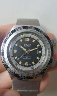 Vintage diver watch sicura 古董錶