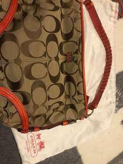 Coach orange handbag