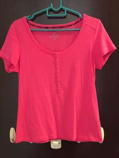Authentic almost new Nautica hot pink top