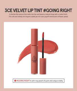 READY STOCKS | Stylenanda 3CE Velvet Lip Tint - Going Right
