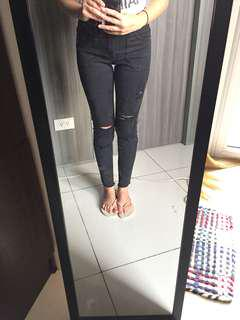 Cotton On Black Ripped Skinny Jeans