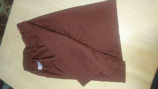 Dark brown short school uniform