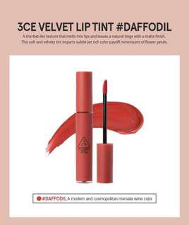 READY STOCKS | Stylenanda 3CE Velvet Lip Tint - Daffodil