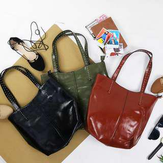 Aila Ladies Leather Casual Shoulder Tote Bag