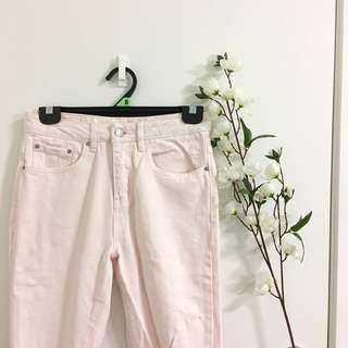 Baby pink bf jean size 6