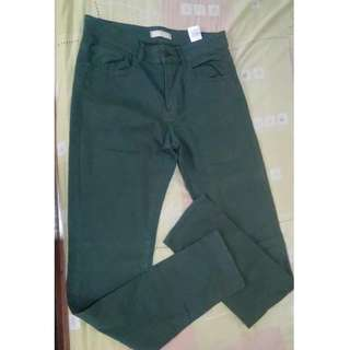 uniqlo pant moist green size 31-32