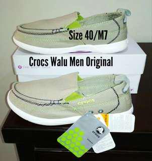 Sepatu Pria Crocs Original, Abu Muda, Size 40/M7