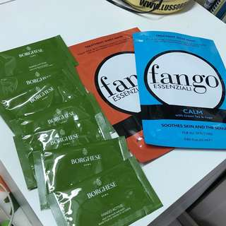 Borghese fango active mud for face and body 7g x7 treatment sheet mask 25mlx2
