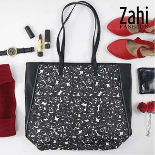 Dacia Fashionable Leather Shoulder Bag (Black)
