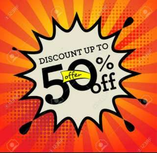 Cek my account Disc 50%