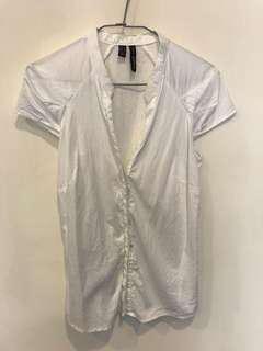 🚚 正品Mango 短袖白襯衫 OL襯衫上衣