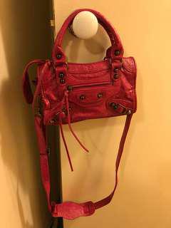 Hot pink mini sling bag
