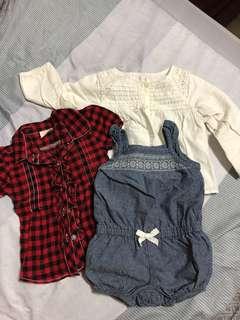 Zara紅格子上衣+卡特吊帶褲+贈小外套