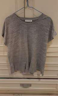 Cotton ink grey tshirt all size