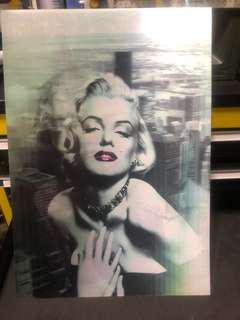 Marilyn Monroe holographic poster 50cm x 35cm