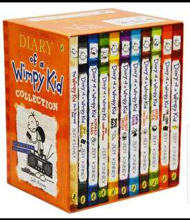 11 new Diary of a wimpy kid books set.