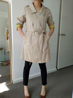 Beige trench coat size 8-12