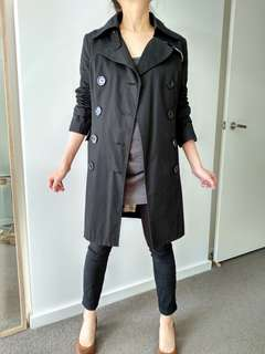 Black trench coat size 10-12