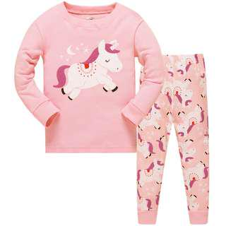 🚚 KOR113A Toddler Kids Pajamas PJs Sleepwear - Unicorn Sz 8 yrs