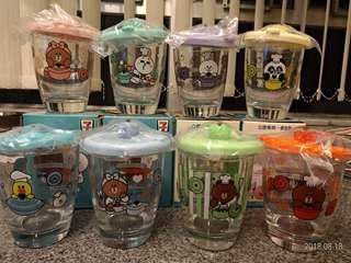 7-11玻璃杯共8隻