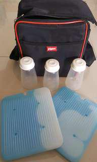 Pigeon Breastmilk Cooler Bag with 3 bottles
