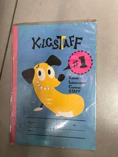 絕版Sanrio K.I.C.STAFF 簿(藍色)