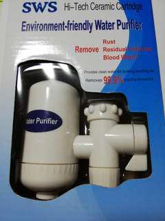 Ceramic cartridge filter tap water purifier, washable cartridge