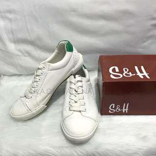 S&H White Green Sneakers