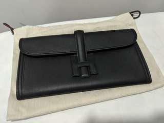 9b2c2ee3058a BNIB Authentic Hermes Jige Elan 29 in Black Swift Leather