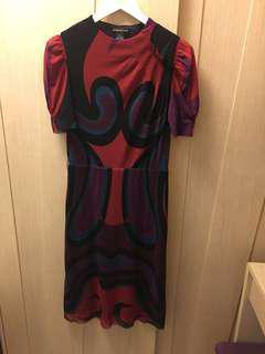 Vivienne Tam vintage mix print sleeve dress 🌹