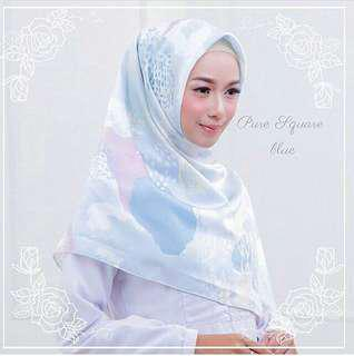 Abstract Blue Square Hijab