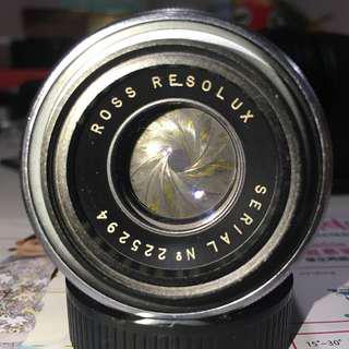 英倫風味 Ross London Resolux 9cm / f4 放大機鏡頭