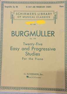 Burg muller Twenty-five Easy and Progressive Studies for the piano