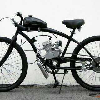 bicycle,腳踏車配件,80cc自行車改裝,腳踏車引擎改裝, 高雄市區可代客安裝費用1500【只賣組件不含自行車]