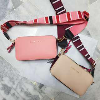 Coral Daisy Sling Bag