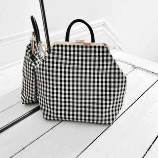NAKEDVICE the gingham harper backpack