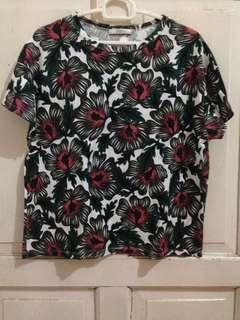 Zara flowery shirt