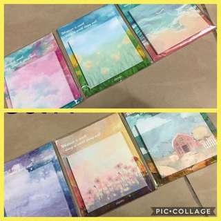 🚚 Sticky Pads - 30 sheets per pad/Paper size 7.5cm Square/(Minimum 3pcs to purchase for Free local Mail) 3pcs for $3 with Free Mail