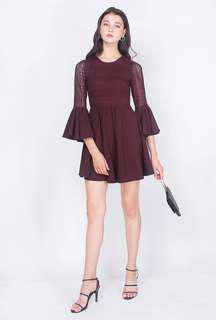 Fayth Bell Sleeved Lace Dress