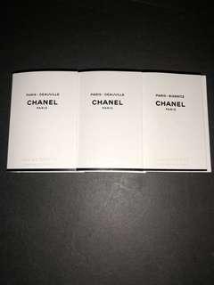 CHANEL PARIS - BIARRITZ LES EAUX DE CHANEL EDT 試管裝香水 三支 1.5ml