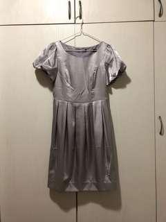 size S silver dress 銀色連身裙 #gogovan50