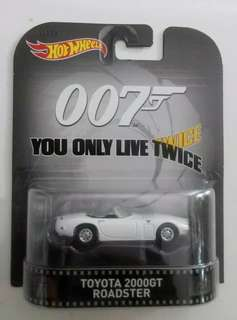 Hotwheels retro entertainment 007 James Bond - You Only Live Twice - Toyota 2000GT Roadster